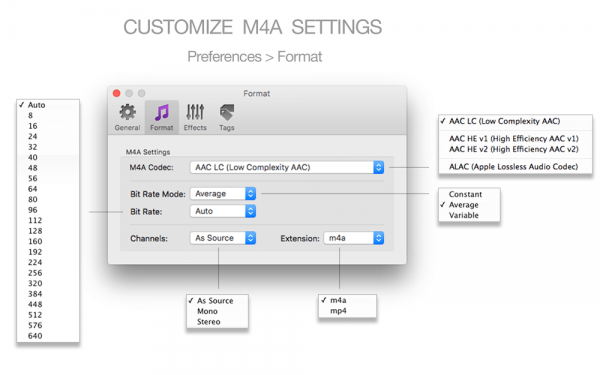 2-customize-m4a-settings