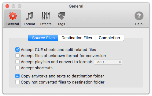 CUE Splitter in To Audio Converter for Mac