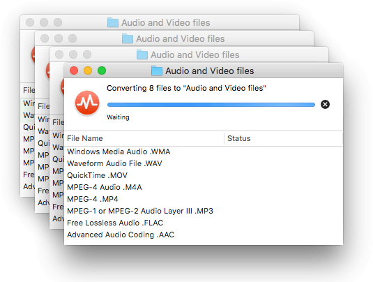 Simultaneous multiple conversions in To Audio Converter for Mac