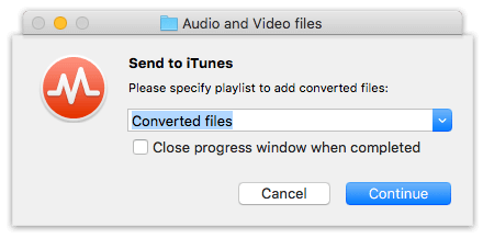 Integration To Audio Converter with iTunes