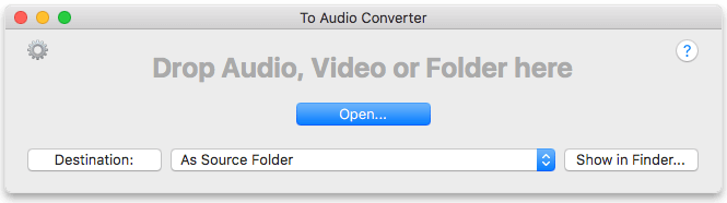 To Audio Converter for Mac by Amvidia