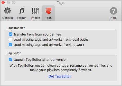 Download tags and artworks while ripping CD on Mac