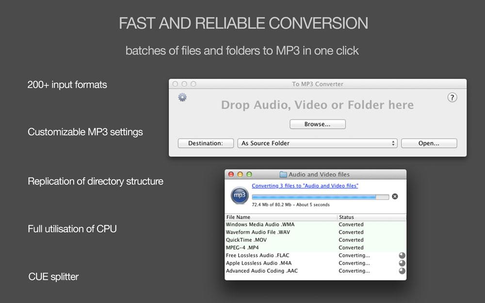 To MP3 Converter for MAC full screenshot