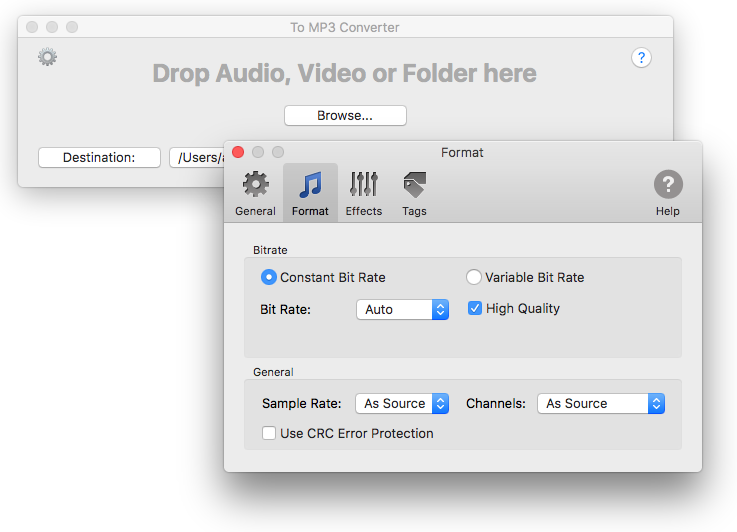 To MP3 Converter - Preferences