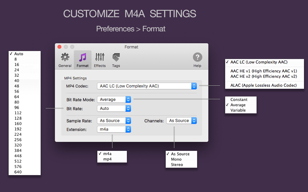 To M4A Converter for Mac OS X - Amvidia