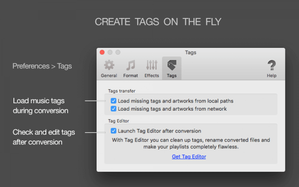 MIDI to MP3 for Mac - Create tags on the fly, load missing tags from folder and file names, auto-export of files to the Tag Editor