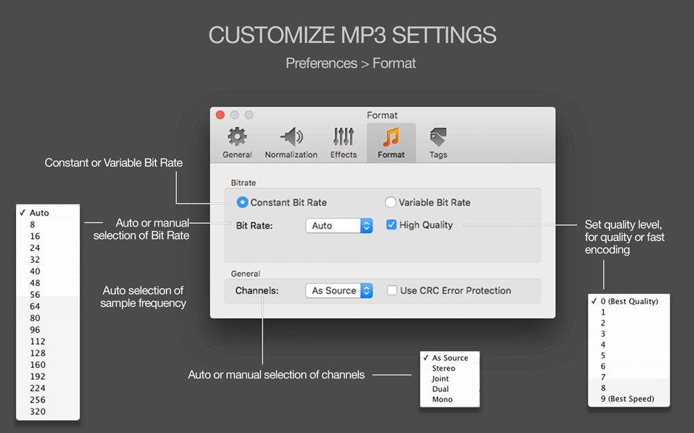 MP3 Normalizer for MAC OS X - Amvidia