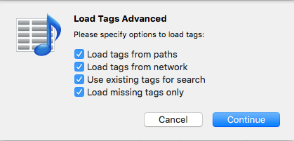 Advanced loading of tags in Tag Editor for Mac
