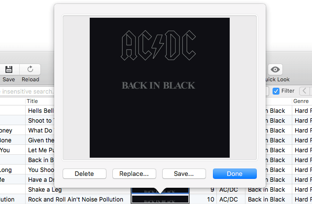 Album Artwork management in Tag Editor for Mac