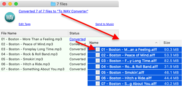 To WAV Converter for Mac OS - Accessing new AIFF files