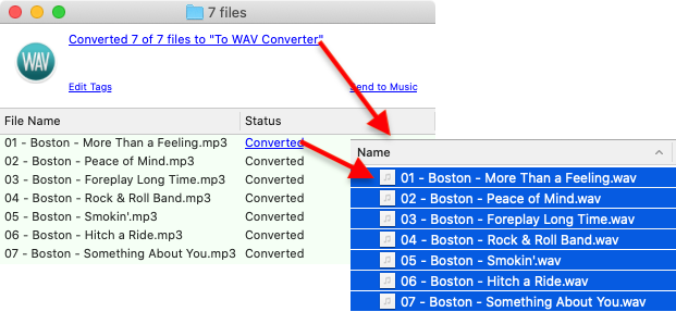 To WAV Converter for Mac OS - Accessing new WAV files